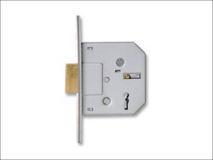 Sterling (Padlocks) Mortice Lock 3 Lever Mortice Deadlock 2.5in Brass MLD325