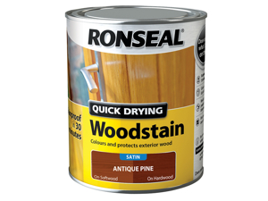 Ronseal Wood Stain Quick Dry Woodstain Satin Pine 750ml