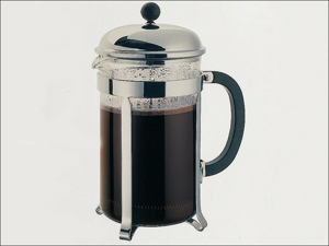 Bodum Complete Cafetiere Chambord Coffee Maker Chrome 12 Cup 1932-16