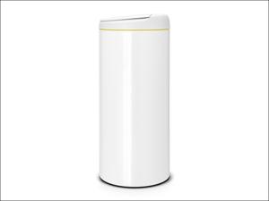 Brabantia Touch Bin Flip Bin White With Light Grey Lid 30L 106866