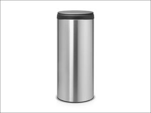 Brabantia Touch Bin Flip Bin Matt Steel Finger Print Proof Grey Lid 30L 106965