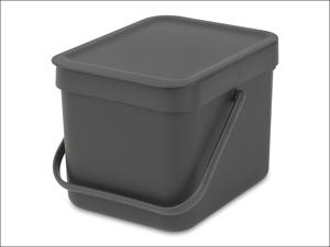 Brabantia Recycling Caddy Sort & Go Waste Bin Grey 6L 1097.20