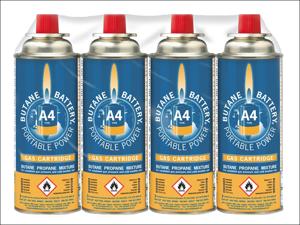 Bright Spark Gas Cartridge A4 Butane Gas Refill 220g