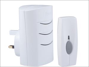 Byron Door Chime Plugin Wireless Door Chime Kit 60m BY102