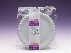 Caroline Disposable Plates Paper Plates White 7in x 20 1401