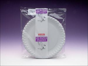 Caroline Disposable Plates Paper Plates White 9in x 20 1402