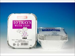 Caroline Foil Tray Foil Tray & Lids 16oz x 10 1001