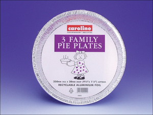 Caroline Foil Plate Deep Family Pie Plate 10in x 3 1025