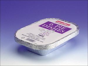 Caroline Foil Dish Rectangular Foil Pie Dish 16ozx6 T1034