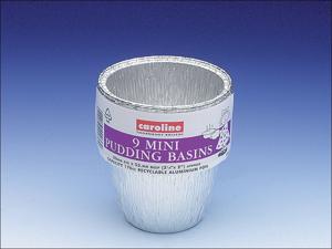 Caroline Foil Dish Deep Mini Pudding Basin 6ozx9 T1041
