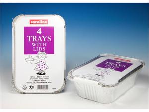 Caroline Foil Tray Foil Tray & Lids 30oz x 4 T1004