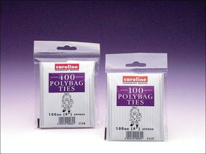 Caroline Bag Tie Polythene Bag Closures x 100 1117