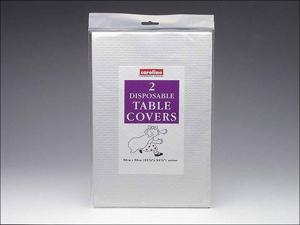 Caroline Paper Tablecloth Square Tablecovers White 90 x 90cm x 2 T1320