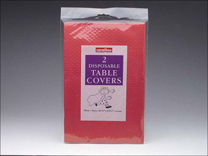 Caroline Paper Tablecloth Square Tablecovers Red 90 x 90cm x 2 T1321