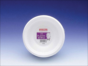Caroline Disposable Bowl 8oz Plastic Bowl 225ml x 15 1425