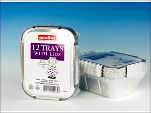 Caroline Foil Tray Foil Tray + Lids 121 x 96 mm X12 1000