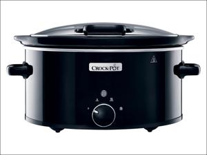 Crockpot Slow Cooker Slow Cooker Hinged Lid Black 5.7L CSC031